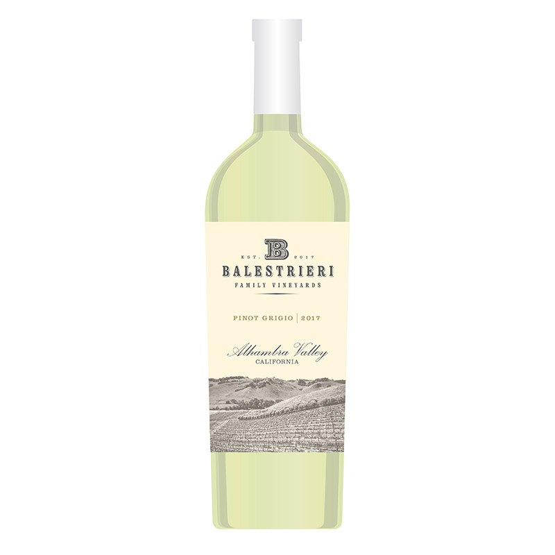 Pinot Grigio - Our pinot grigio is the perfect summer wine with notes of white nectarine, lime, and honeysuckle on the nose. Soft and lush in the mouth with a cleansing citrus, zippy finish. Well-balanced and a nice accompaniment to shellfish. Salute.