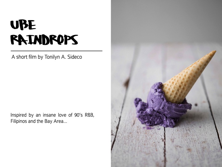 COMING SOON...UBE RAINDROPS!read more about Tone on top'Slatest short film! -