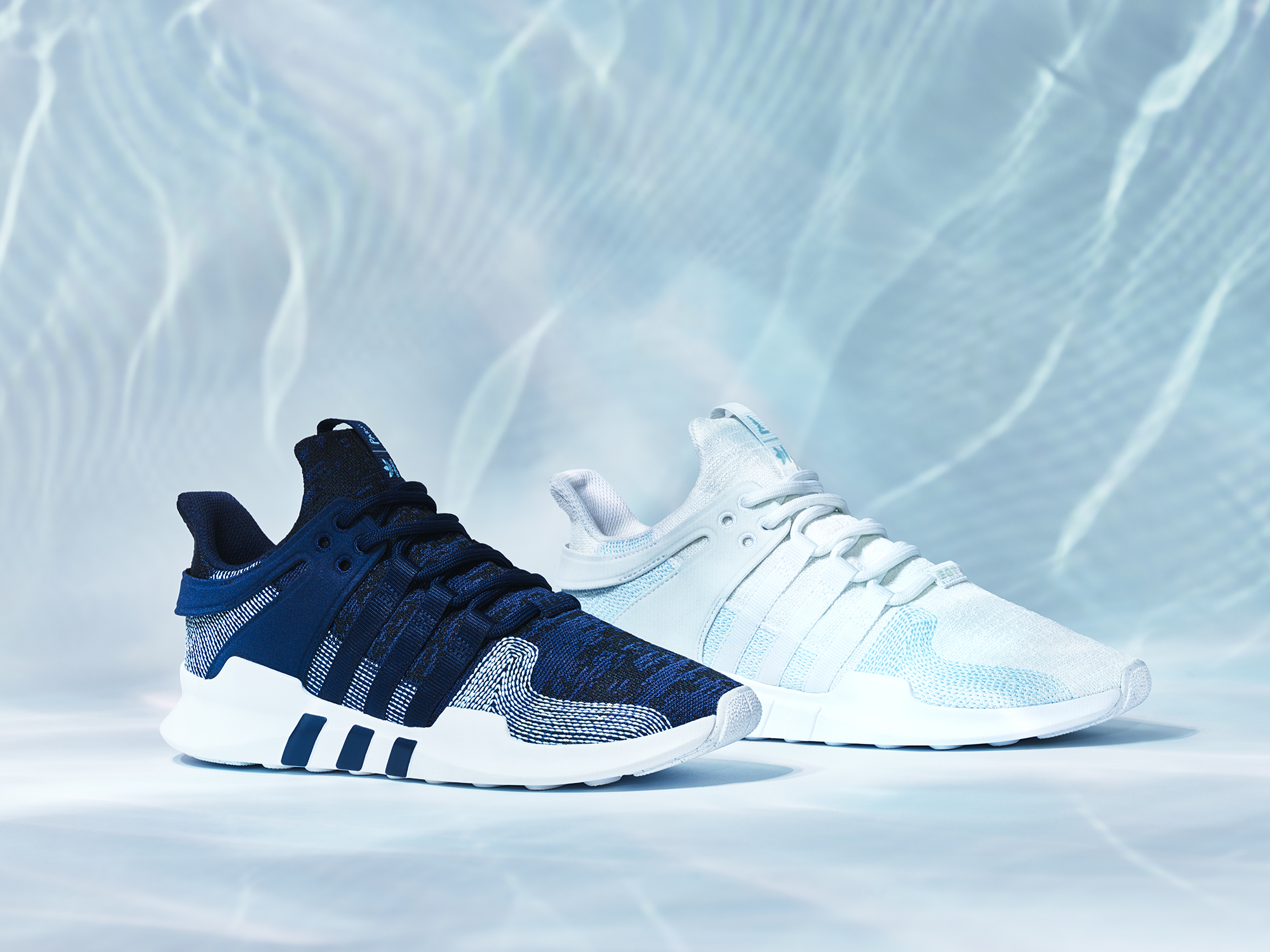 EQT Support ADV Parley  - $160, made of recycled sea plastic, www.adidas.com