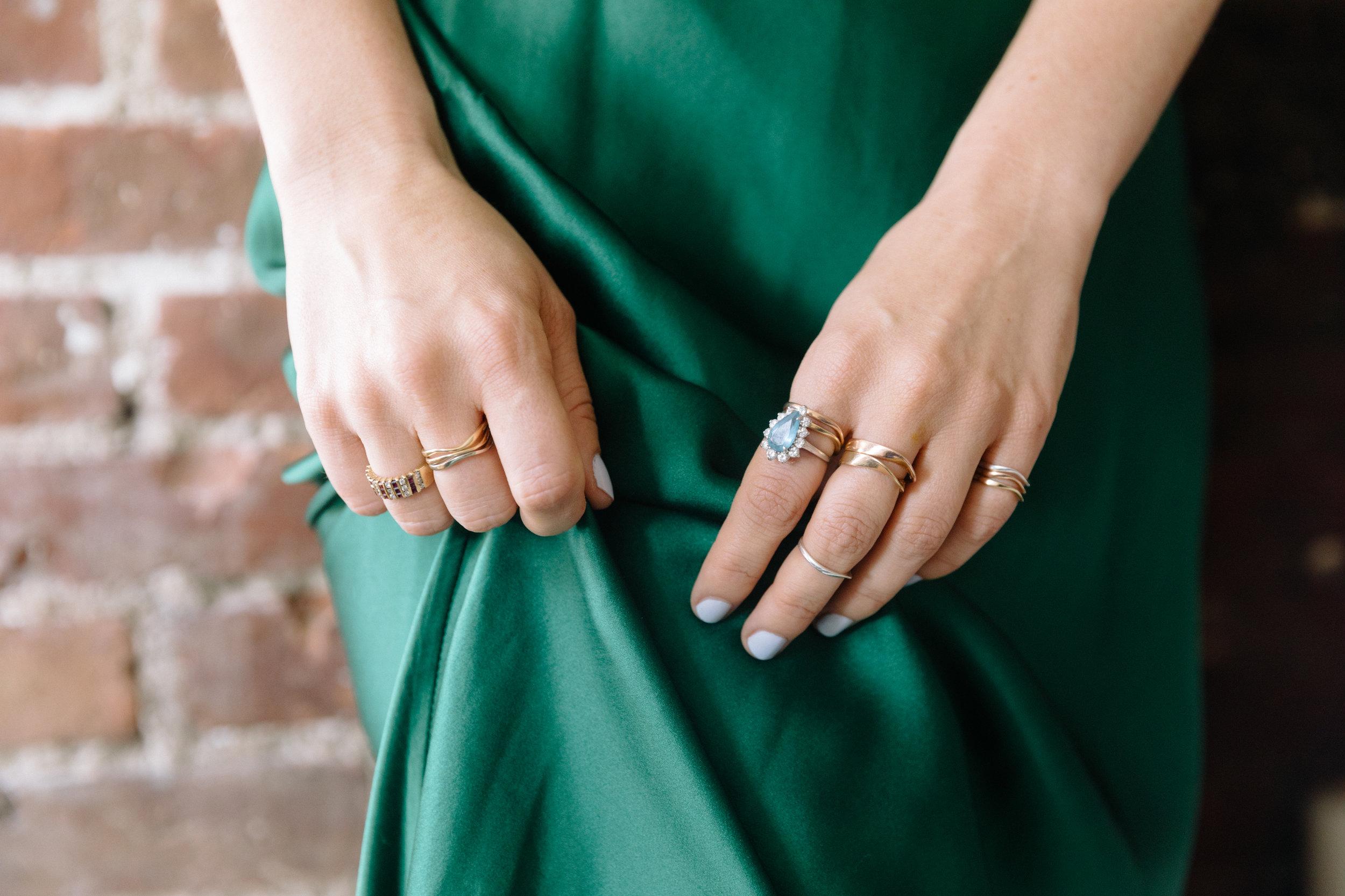 Heather Clark's own jewelry.  Photo by Ashley Batz courtesy of Show Road Jewelry