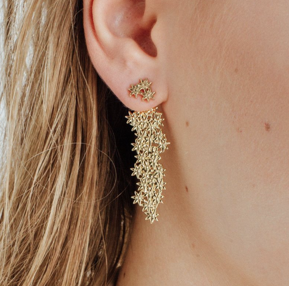 AUrate Flower Earrings - $180, www.auratenewyork.com