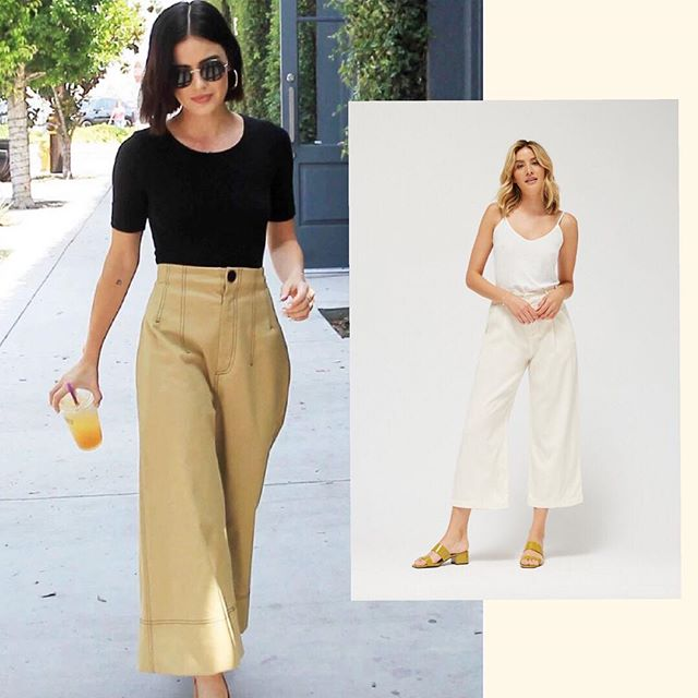 Loving this look from @LucyHale? Recreate it with LACAUSA's new fall line of Lola Trousers, $165. Made in California, tencel & cotton. Easy breezy. . . . . #givingfashion #sustainablefashion #consciousconsumer #fallstyle #fw2018 #nyfw