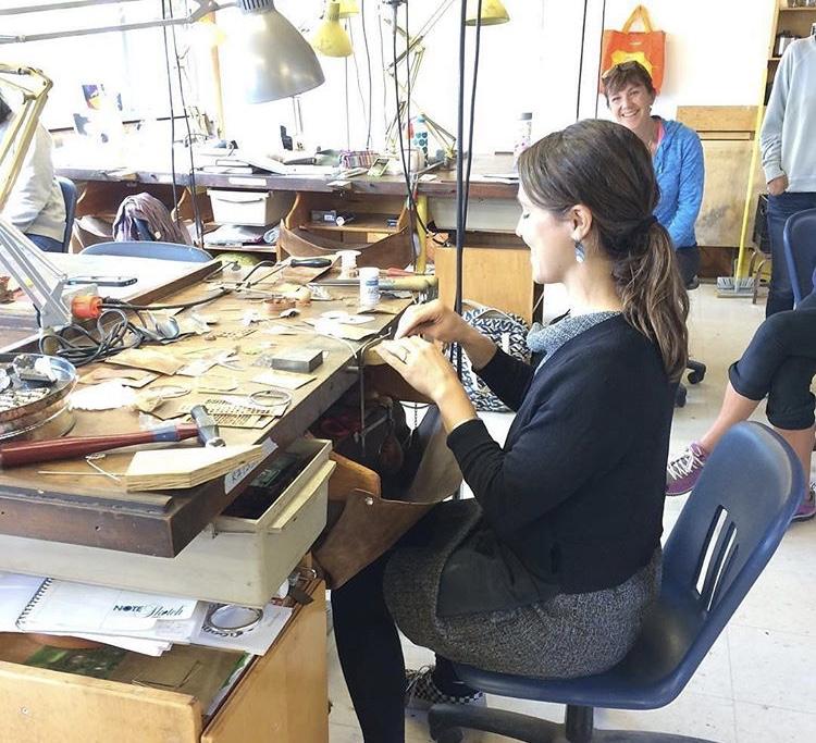 Teaching at  Haystack Mountain School of Crafts , ME, Metals Studio, 2015