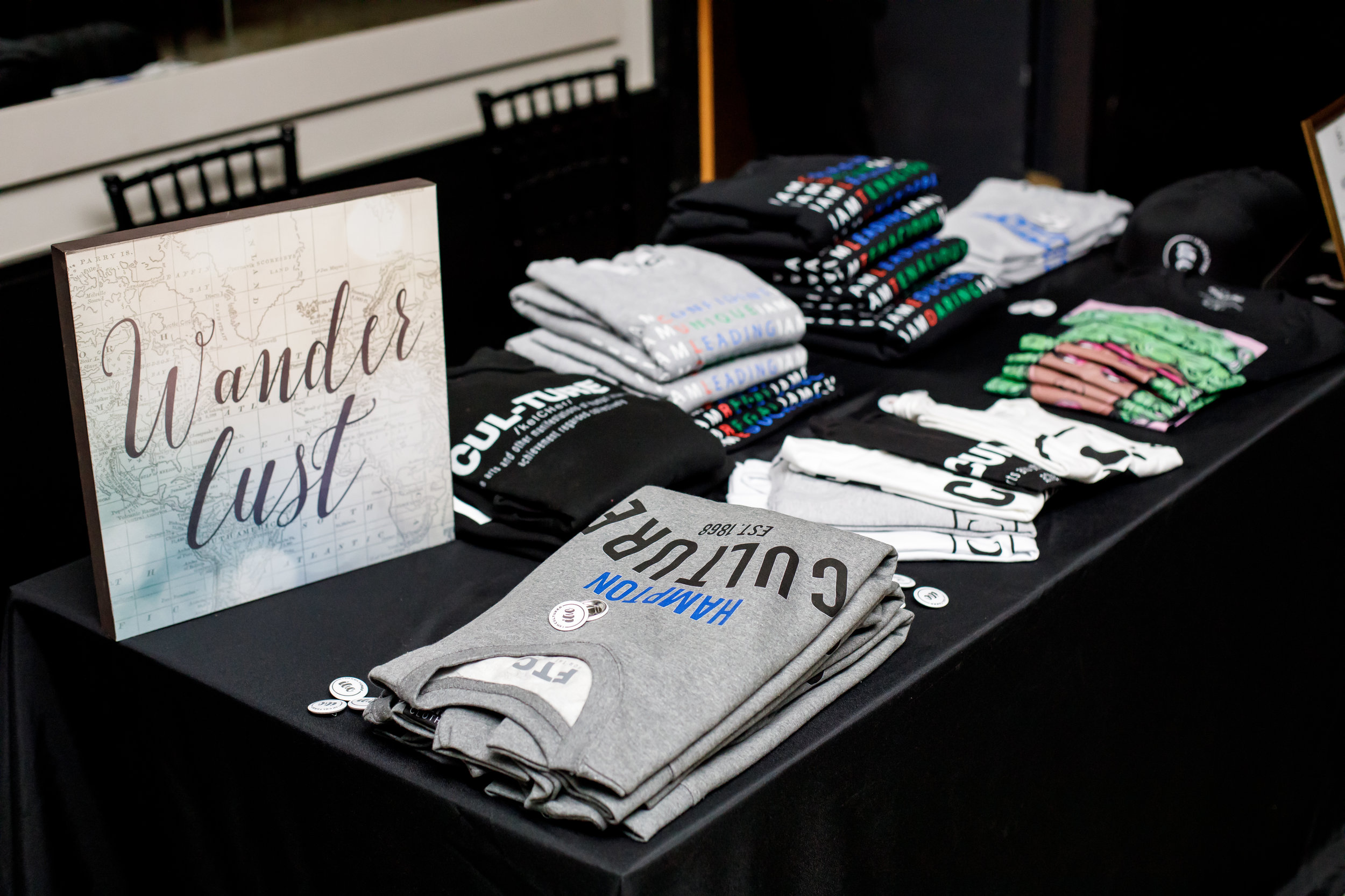 Merchandise Table by For The Culture Clothing