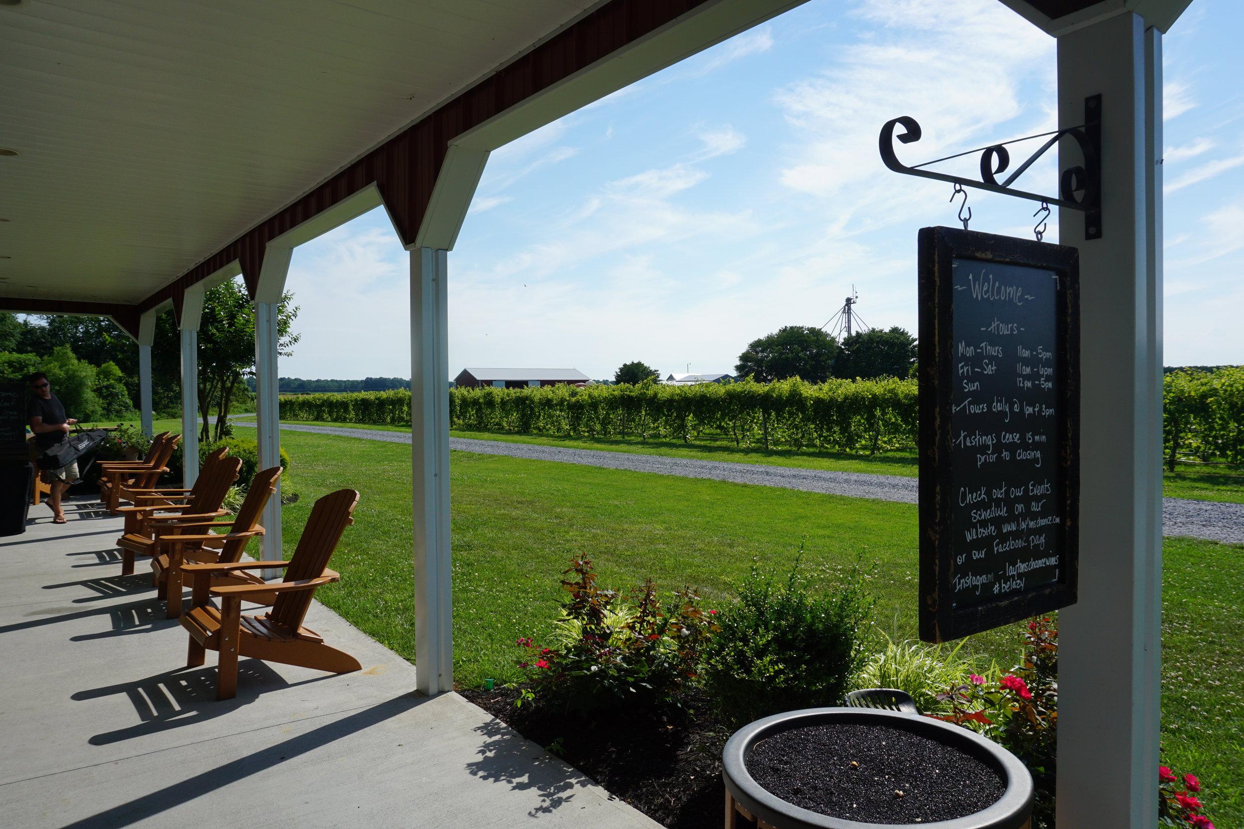 Layton's Chance Vineyard in Vienna, Maryland