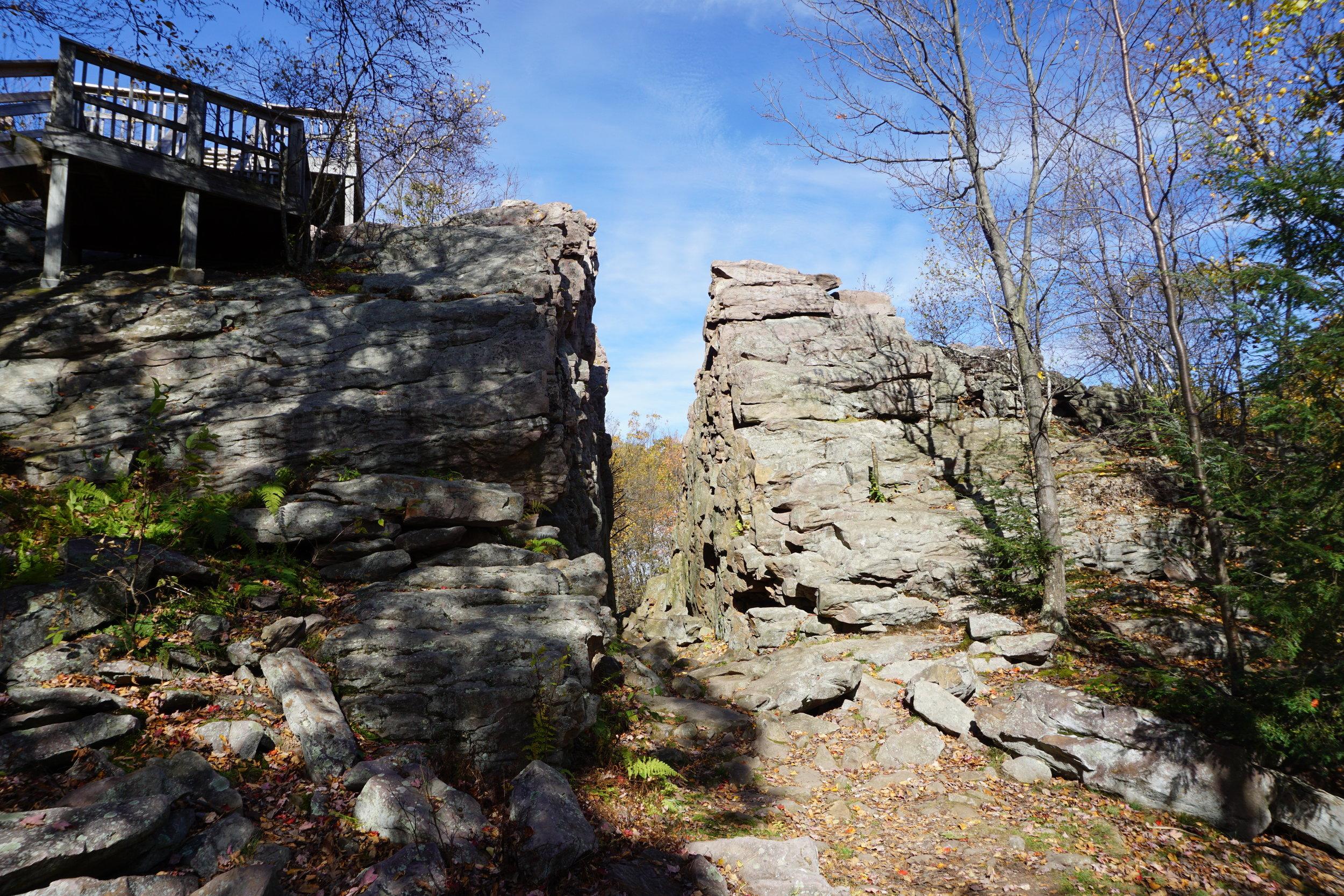 Split Rock in Poconos, PA