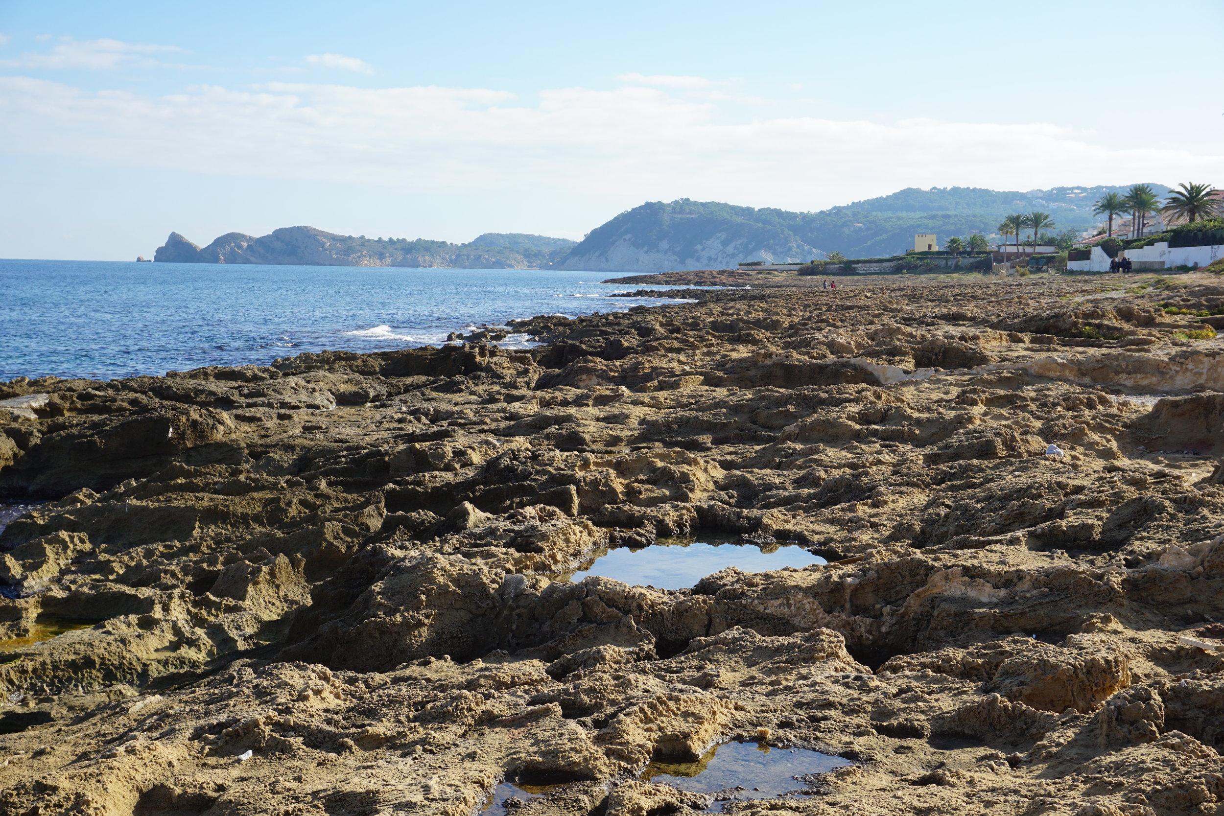 Rocks near Arenal Beach in Jávea, Spain