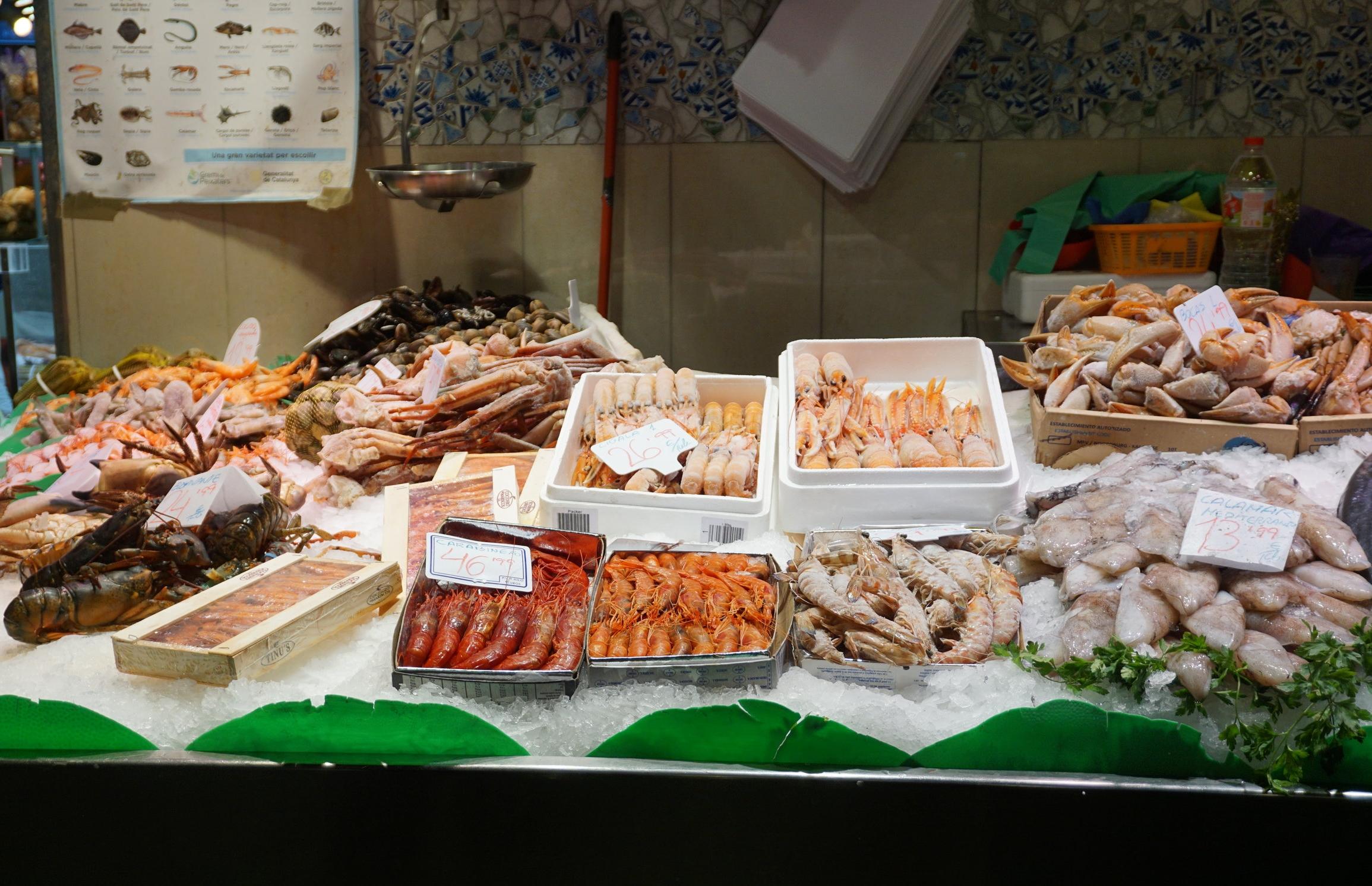 La Boqueria shellfish.JPG
