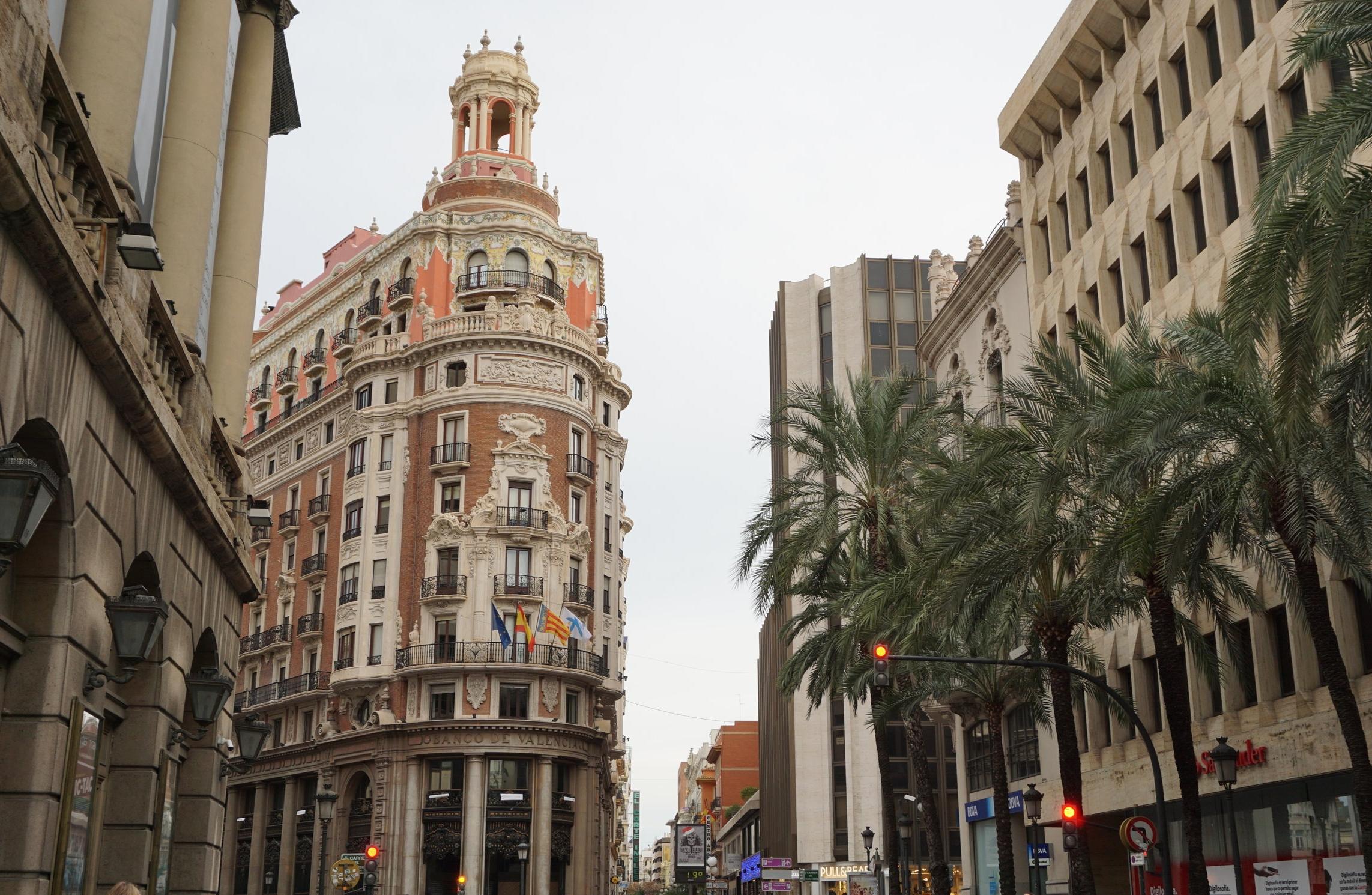 Bank of Valencia, Plaza Ayuntamiento in Valencia Spain