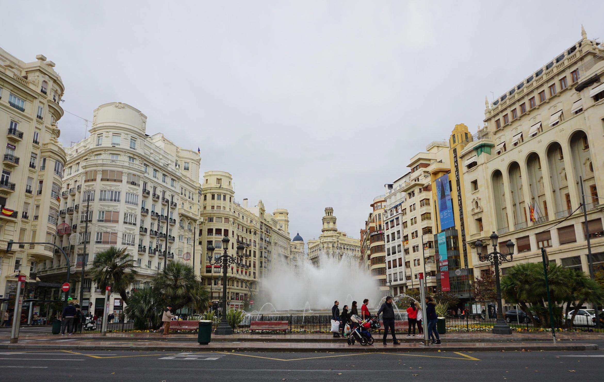 Plaza Ayuntamiento, Valencia Spain