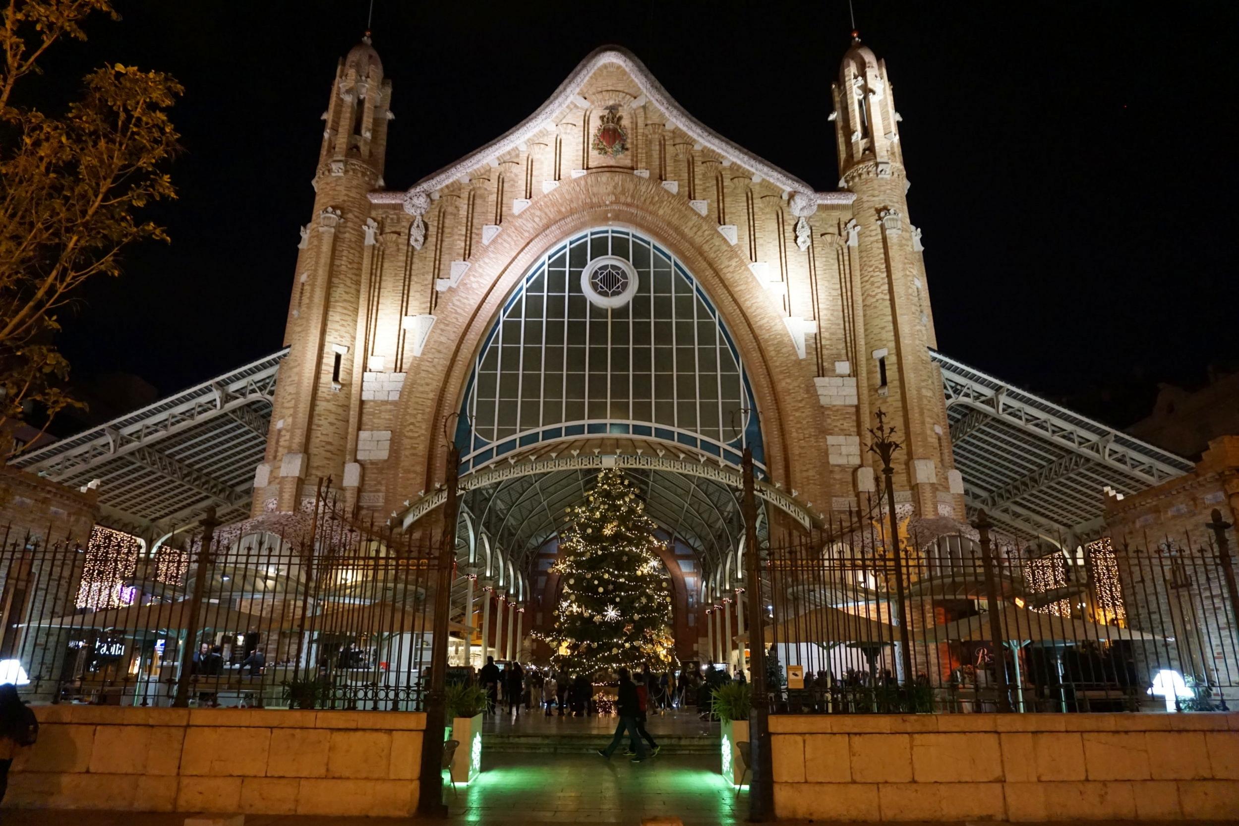 Mercado Colon facade in Valencia, Spain