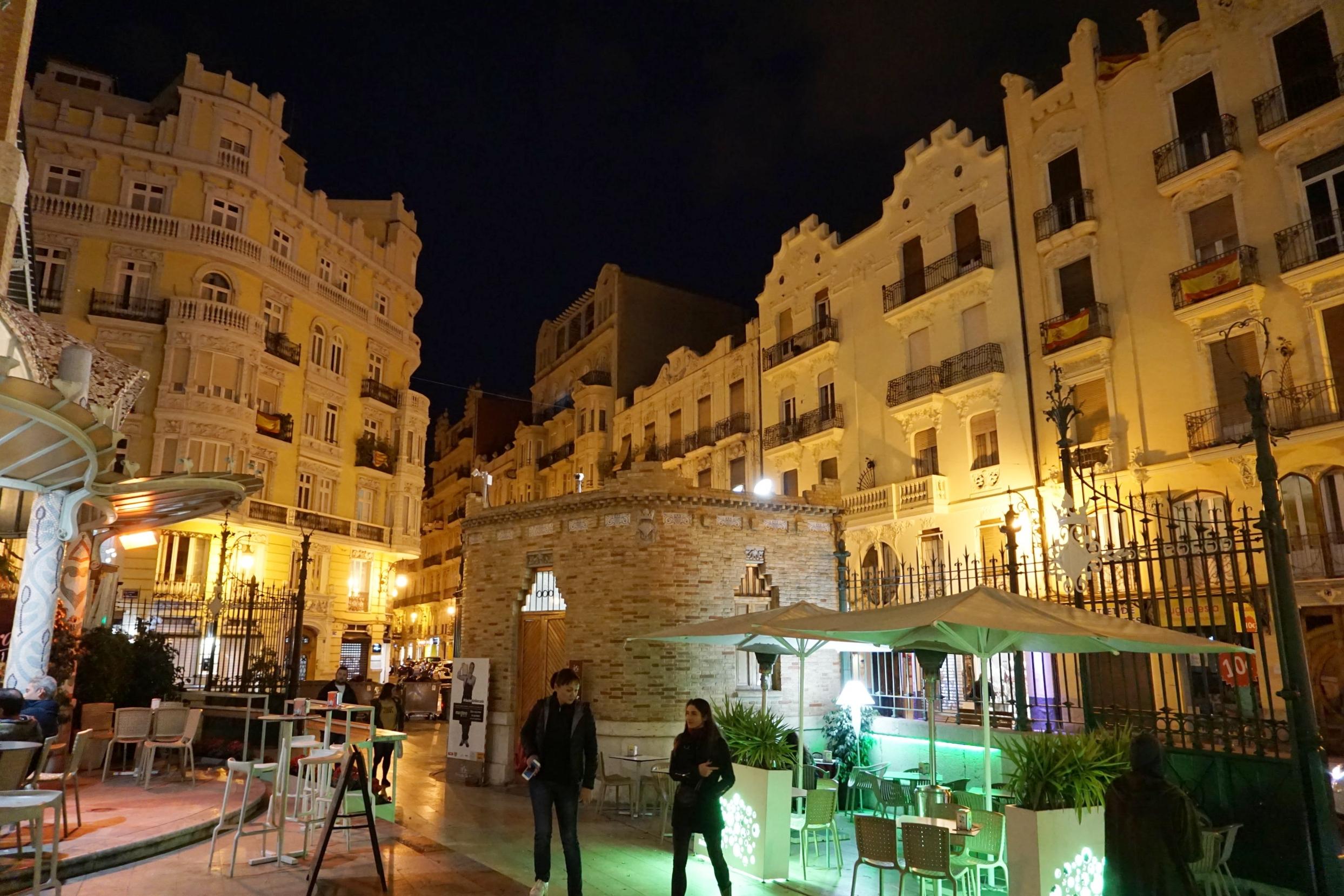 Outside patio of Mercado Colon in Valencia, Spain