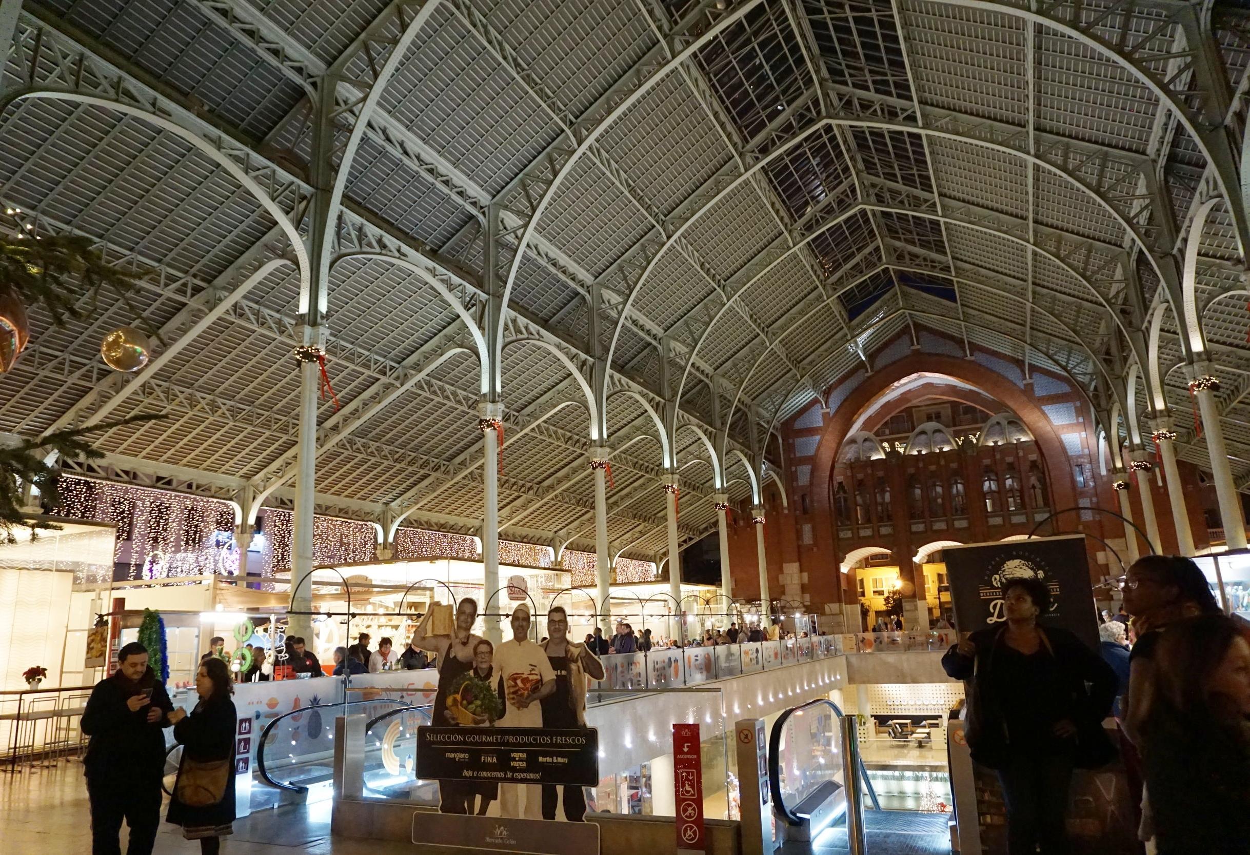 Inside Mercado Colon, Valencia Spain