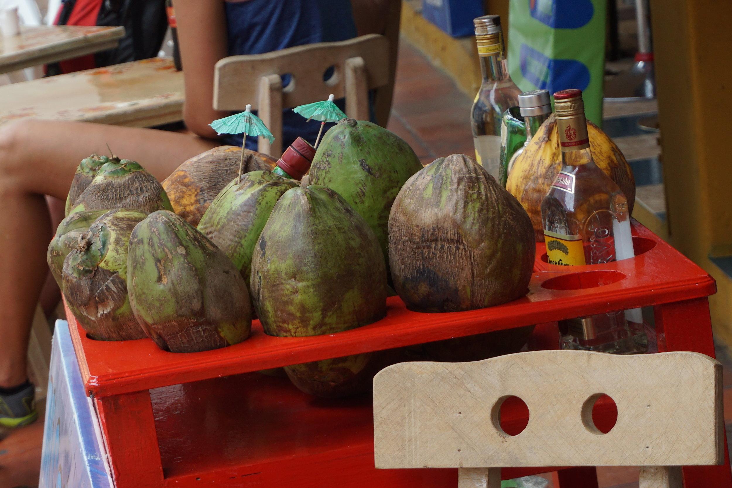 Cartagena Colombia coconut water.JPG
