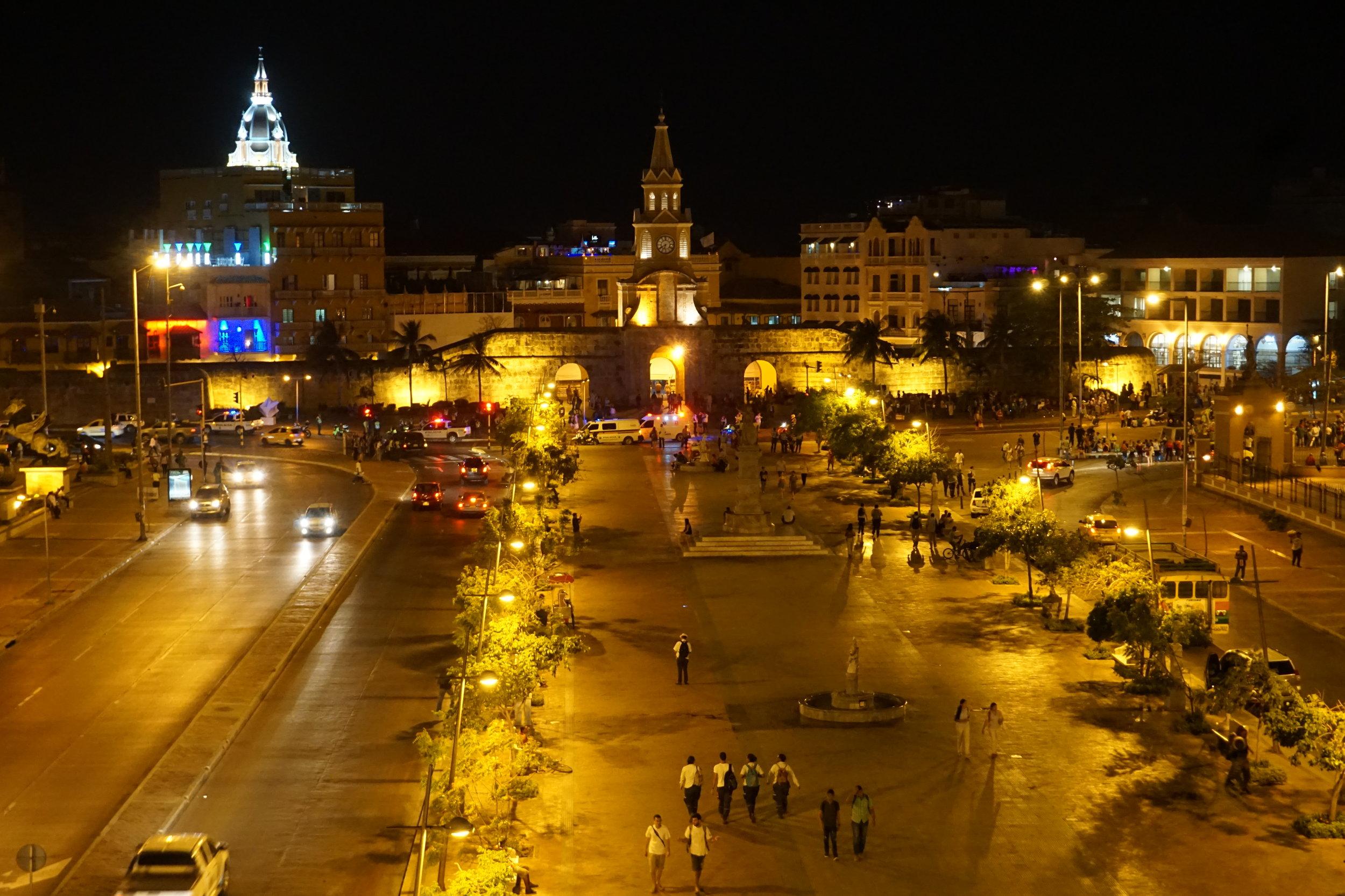 Cartagena Colombia at night.JPG