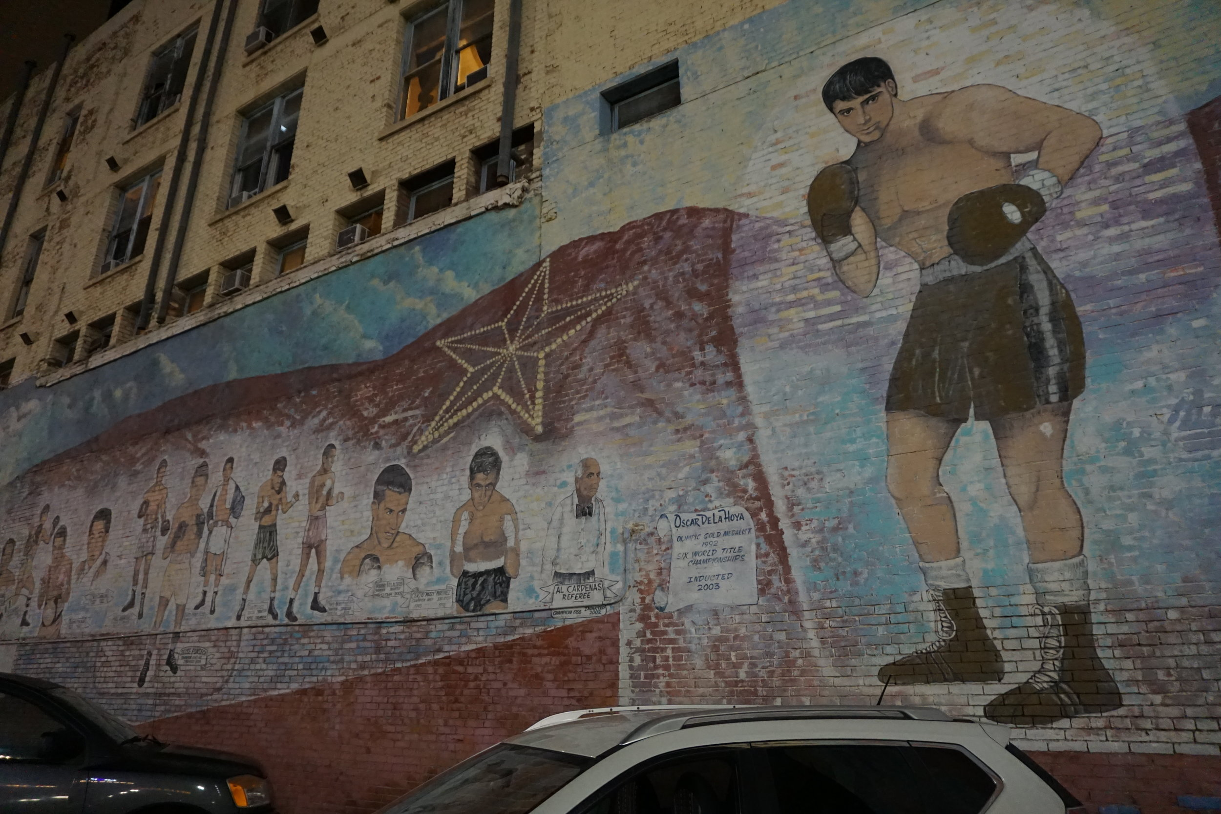 Boxing Hall of Fame art mural El Paso Texas