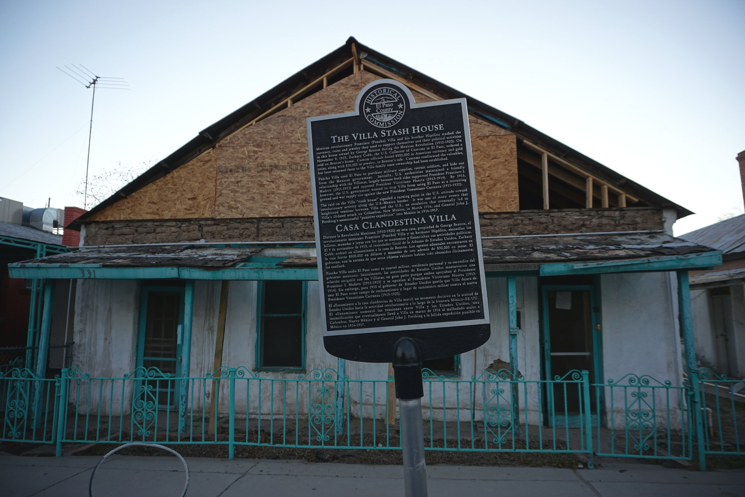 Pancho Villa stash house, El Paso Texas