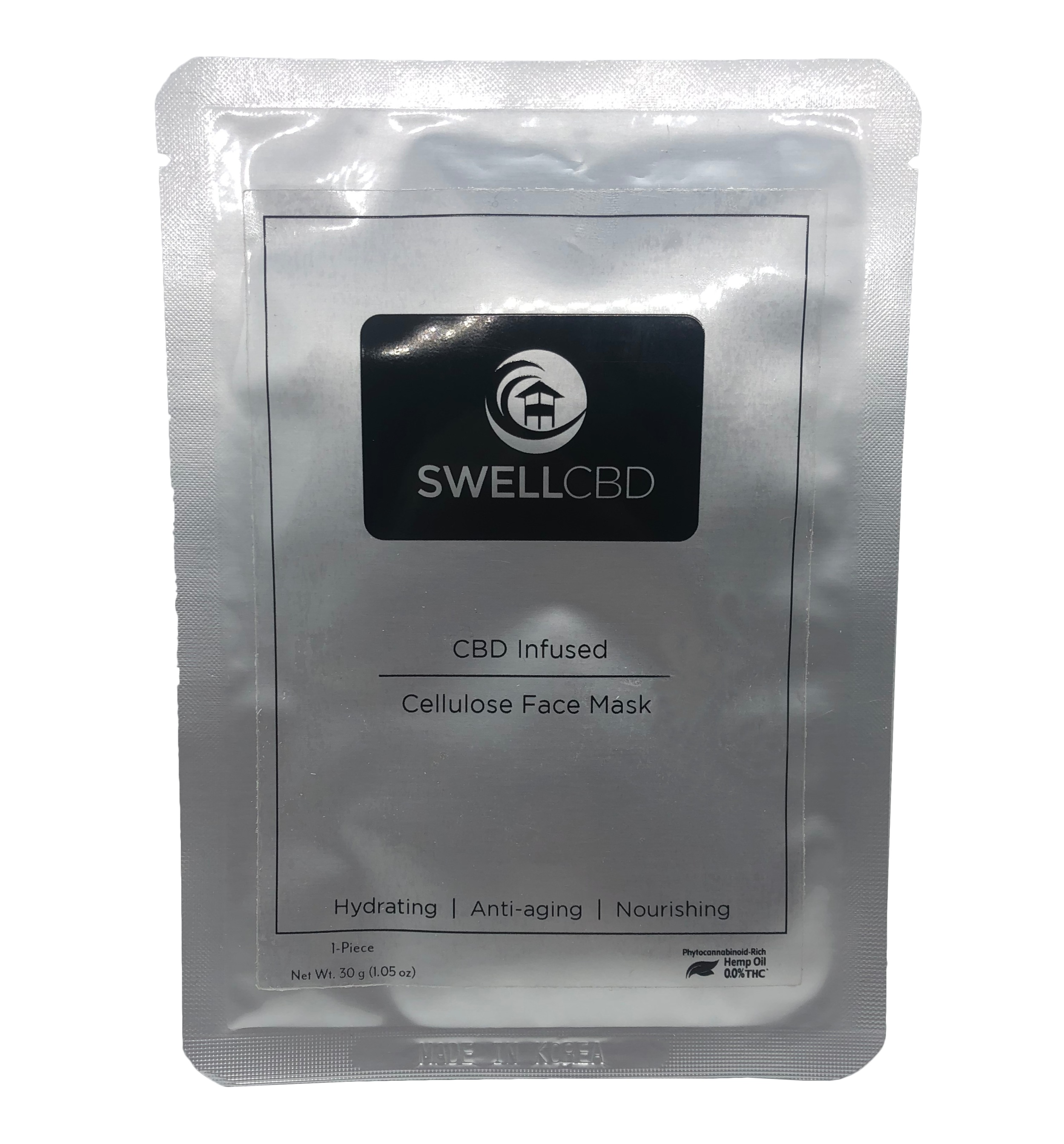 Cellulose CBD Face Mask - Swell CBD is excited to announce the release of one of the first and only CBD infused Cellulose Face mask on the market.Advanced Phytocannabinoid-Rich Hemp Oil Cellulose Face Mask System:-Anti-Aging-Reduces Signs of Fatigue-Anti-Inflammatory-Homeostasis-Promotes Hydration-Fights Free Radicals-Nourshing PropertiesZero 0.0% THCUse The Code 'Greenswell' To Get 10% Off