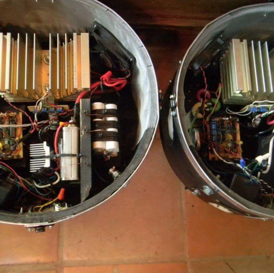 Inside view of Musical Tesla Coils