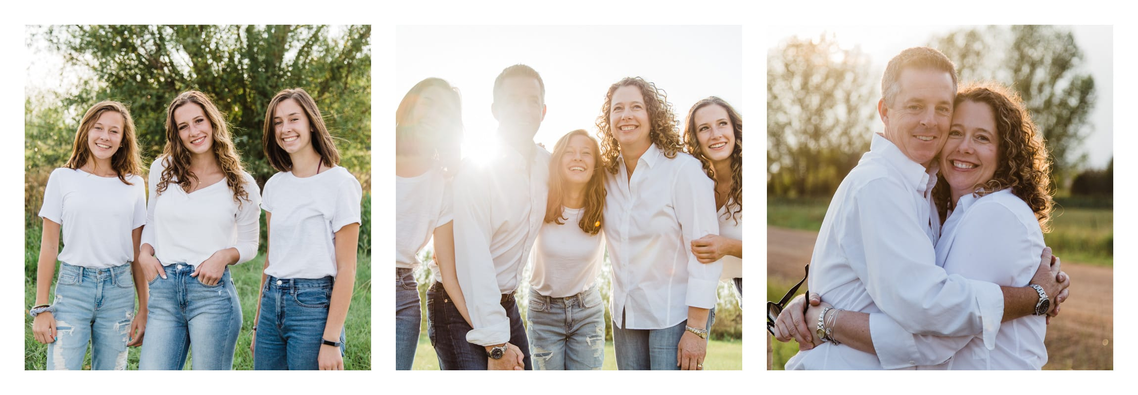 Photos of the Davia family from their family portrait shoot in Erie, Colorado.