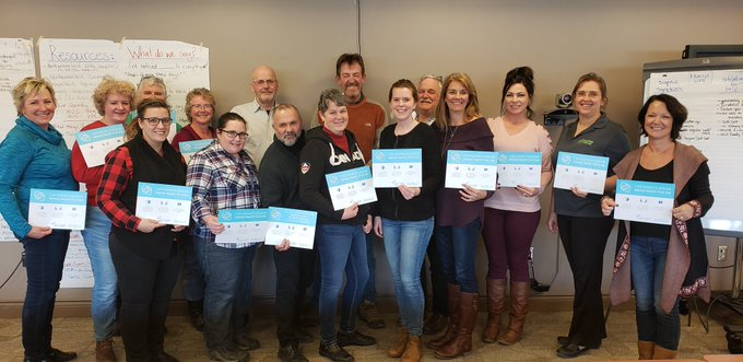 Northumberland Federation of Agriculture members, certified in MHFA Basic March 2019.