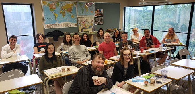 Staff of Bayview Glen school in Toronto, certified in MHFA Youth May 2019.