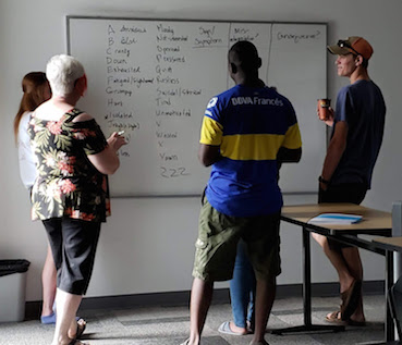 MHFA Basic participants identifying signs & symptoms of depression: Conestoga, July 2019.