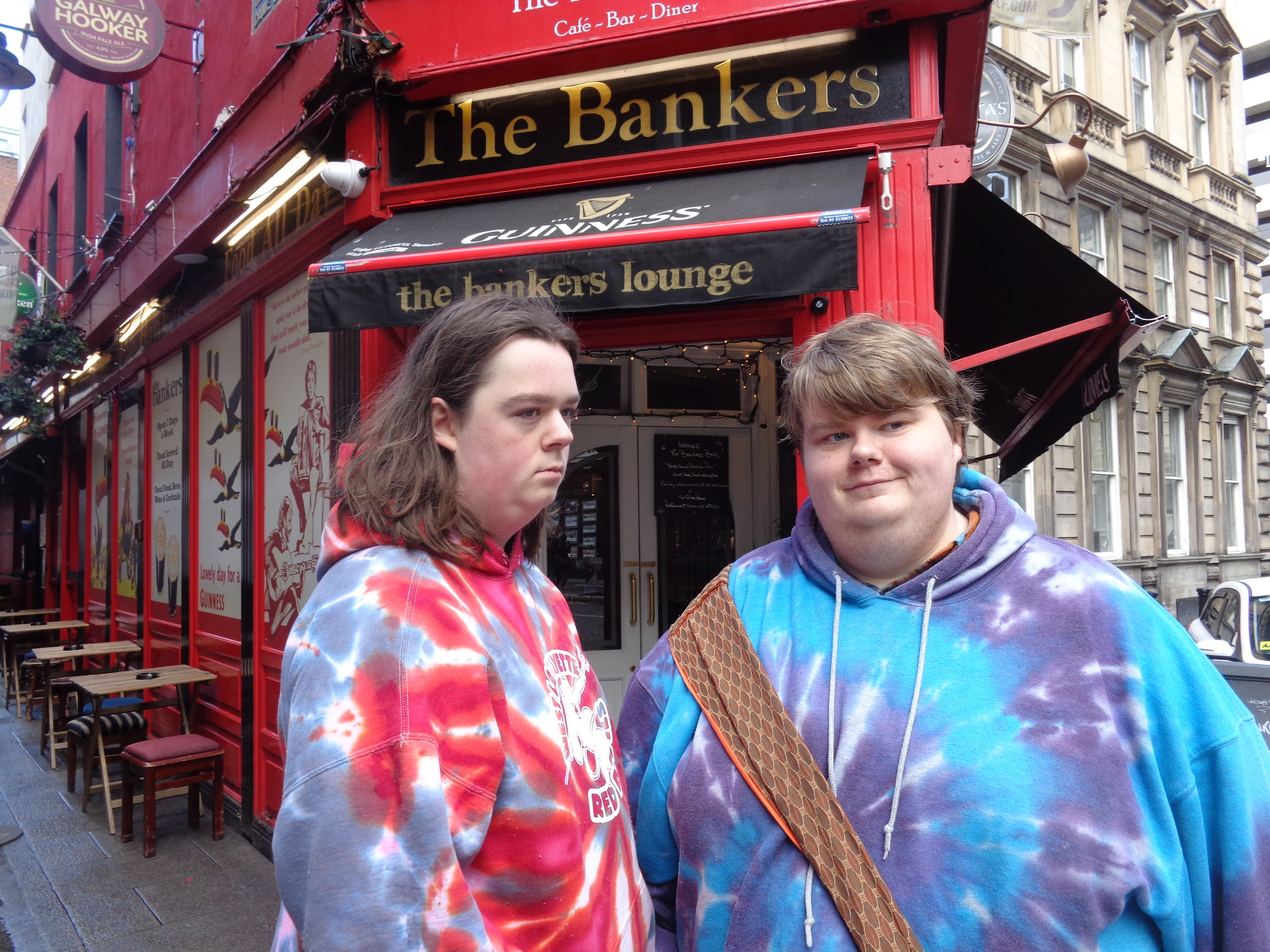 All tie dyed out for the pubs in Dublin