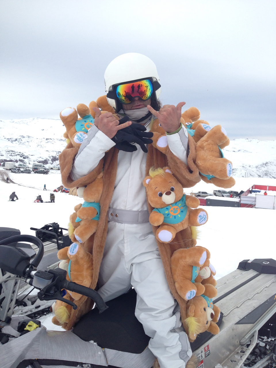 This Teddy Bear wardrobe piece was next level. I'm sure it was nice and warm too. Chile, South America