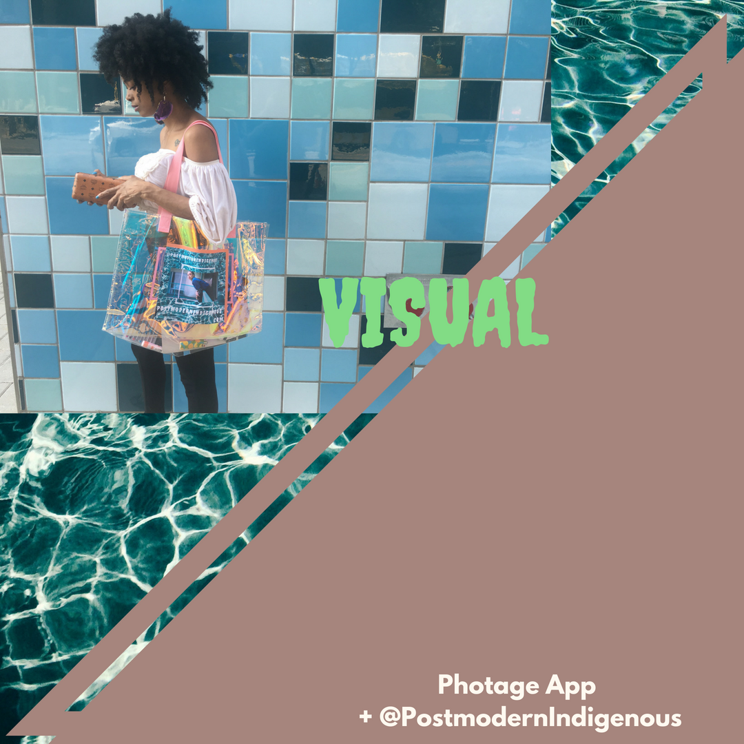 Large, gifted Photage sticker used to create branded tote. | Image via Instagram | Designed by the author (Image & Sticker).
