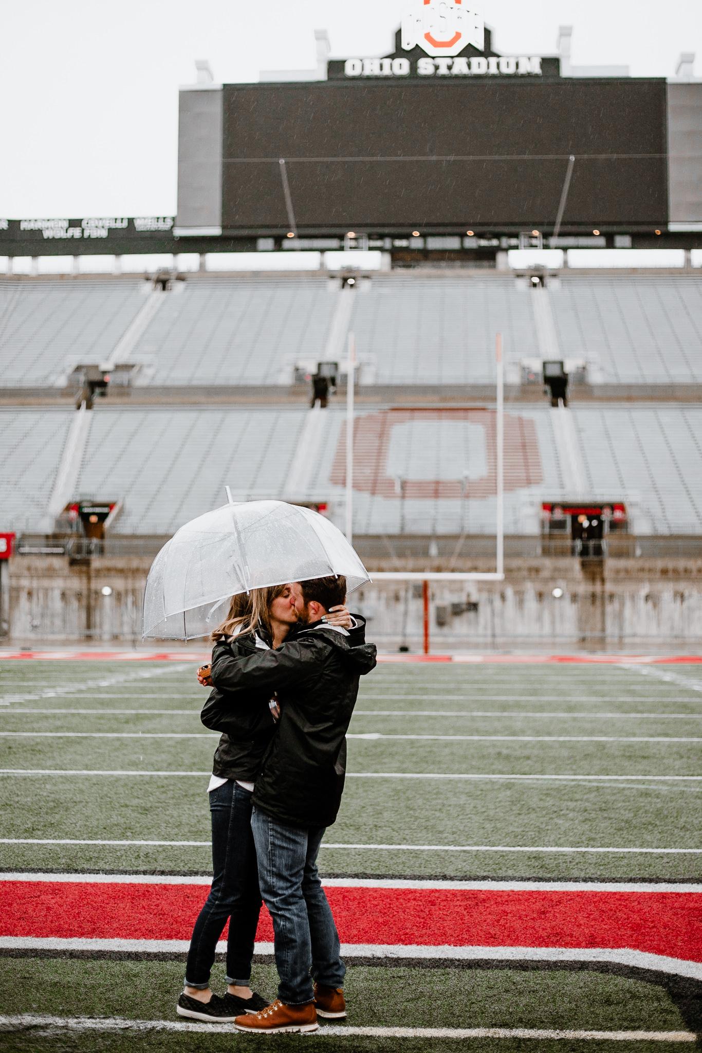 Jill + Cory   Ohio State Football Stadium Surprise Proposal   Catherine Milliron Photography   Ohio Wedding + Engagement Photographer