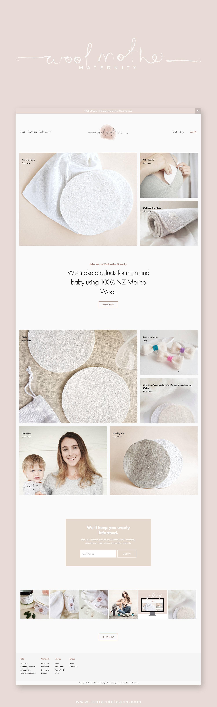 feminine squarespace website design