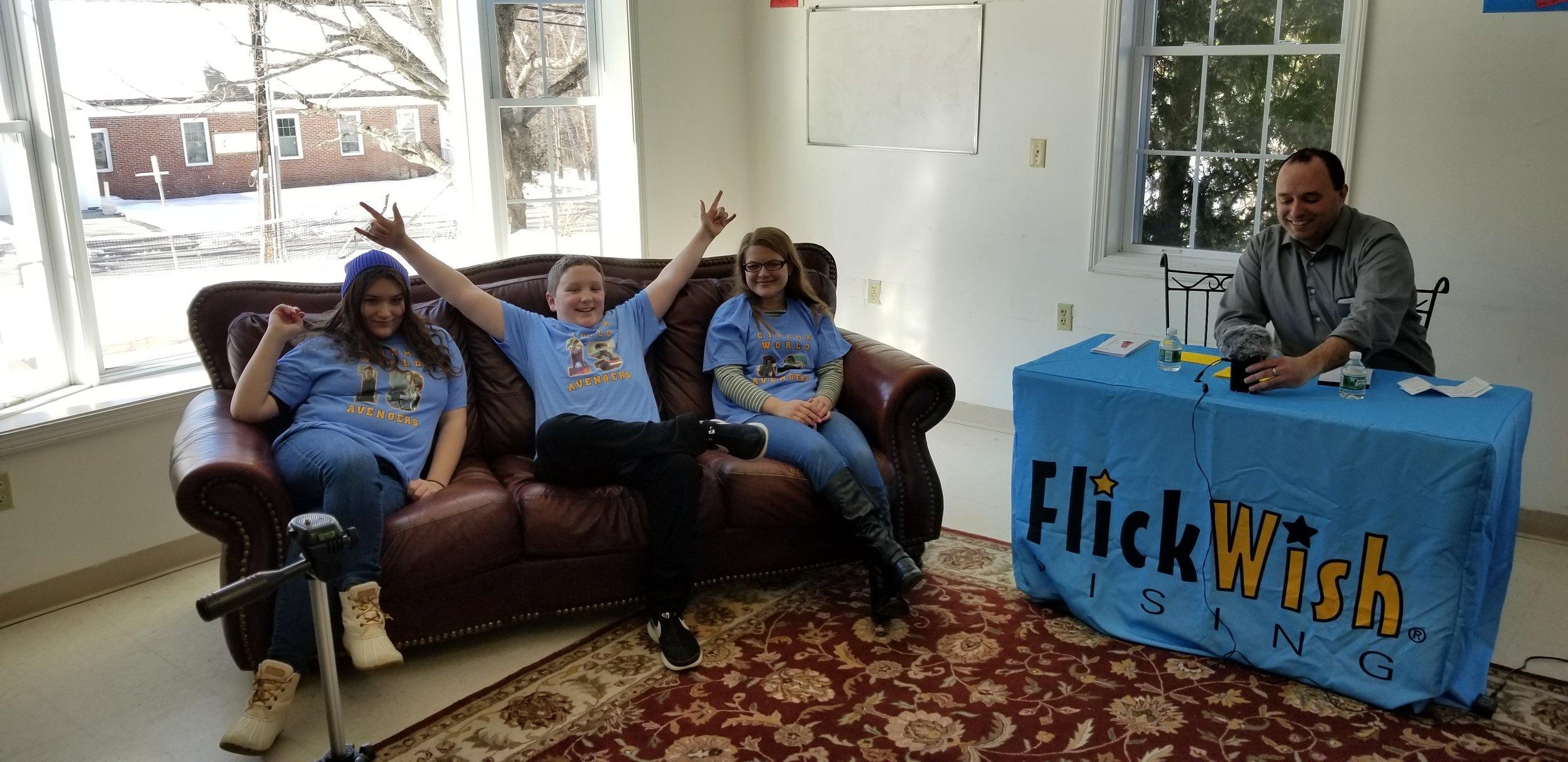 L-R: The FlickWish Family – Bill, Tara, and Brandon Harris