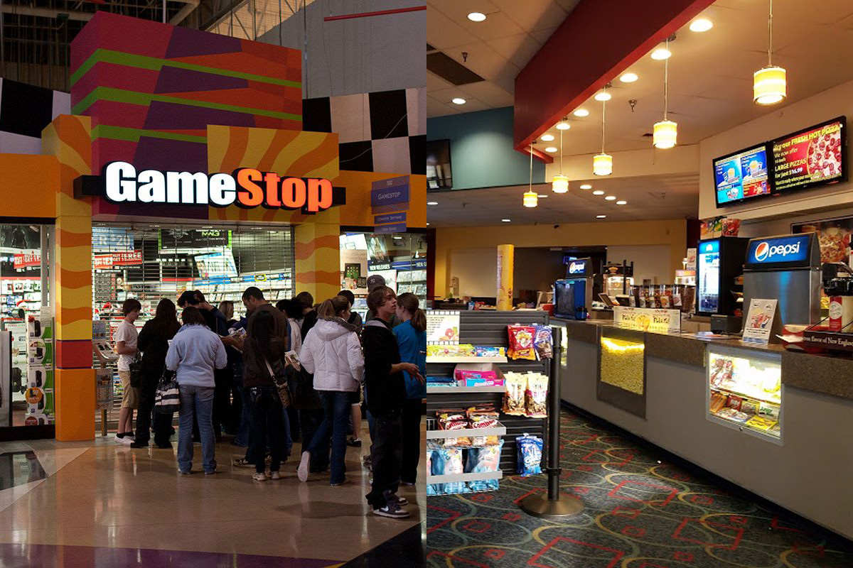 GameStop and Bangor Mall Cinemas 10