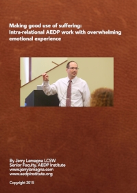 Making good use of suffering: Intra-relational AEDP work with overwhelming emotional experience by Jerry Lamagna(3 DVD Set)