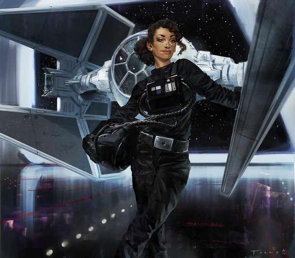 What could be; an image of Ceina Ree drawn for Star Wars Fantasy Flight Game, Armada.