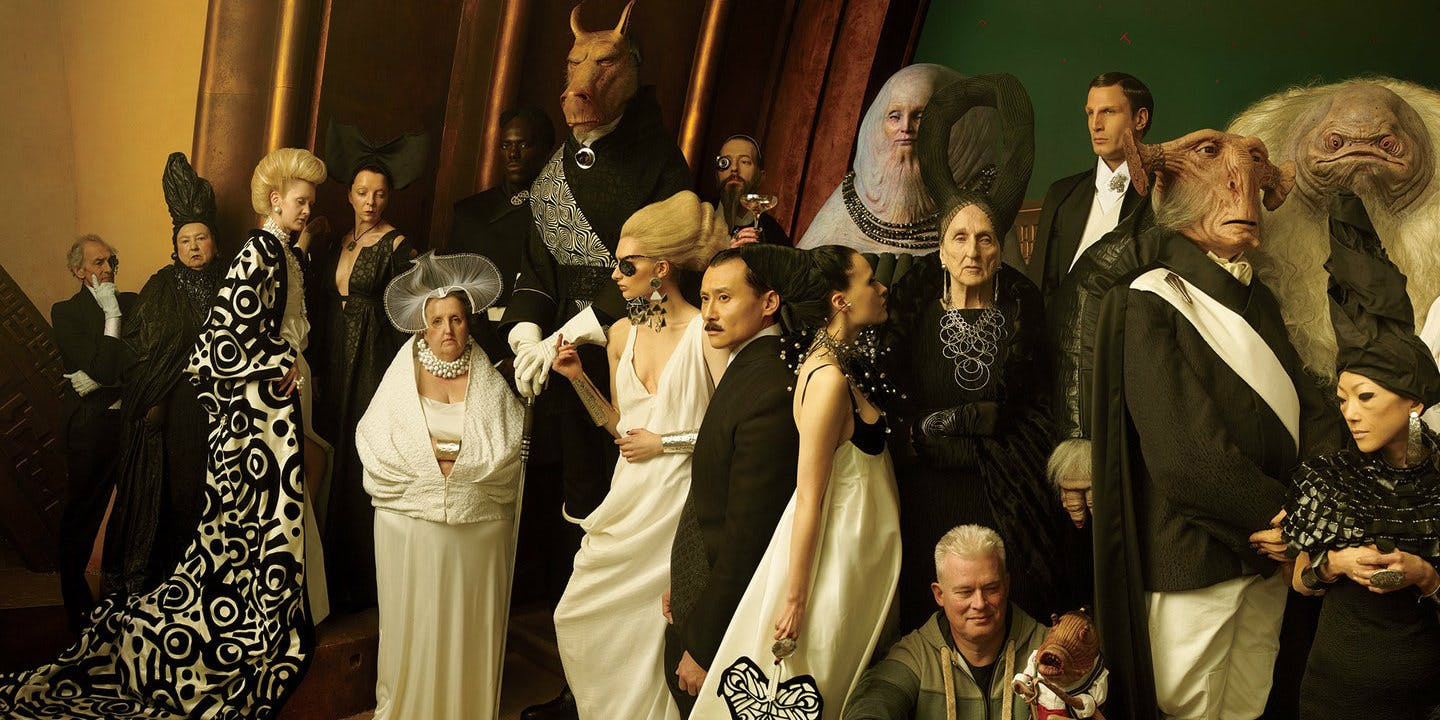 The eclectic patrons of Canto Bight,the casino-city featured in The Last Jedi.