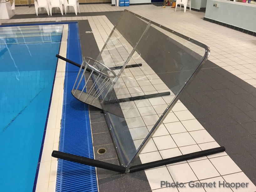 The solution to sloped diving pool walls in Australia. These walls were built by the Perth Raiders for use at the UWR National Championships in Perth, 2017.