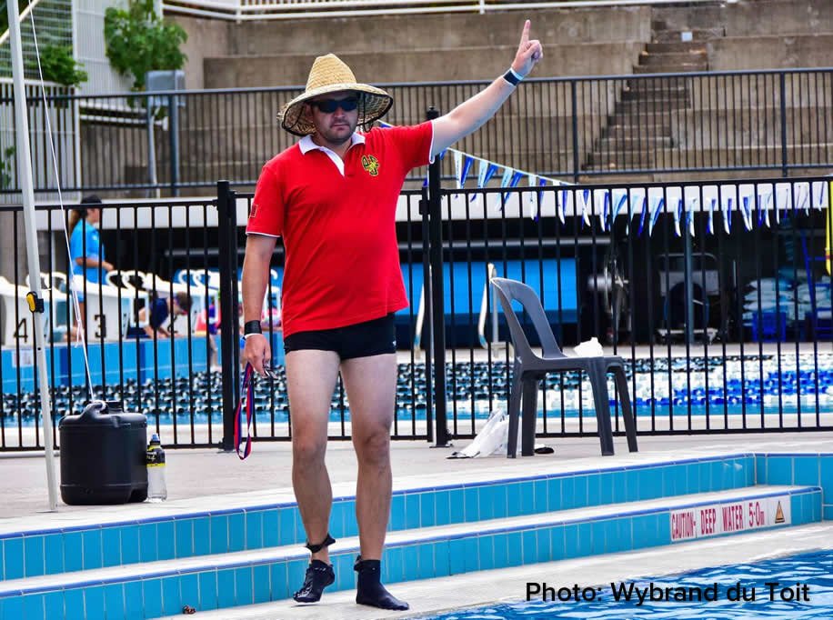 Deck referee making a call at the Brisbane Pan Pacific Cup 2017.
