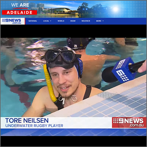 Underwater rugby - It's the most bizarre - and brutal - sport you've never heard of  Nine News Adelaide, 14 October 2016