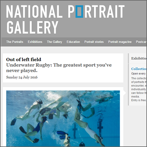 Out of left field - Underwater Rugby: The greatest sport you've never played  National Portrait Gallery, Canberra, 24 July 2016