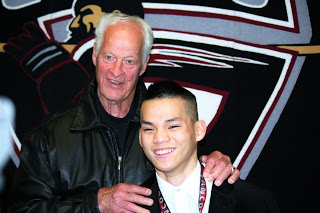 Liong and NHL legend Gordie Howe