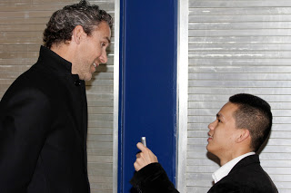 Canucks president of operations Trevor Linden and Liong
