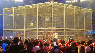 Undertaker and Shane McMahon inside Hell in a Cell