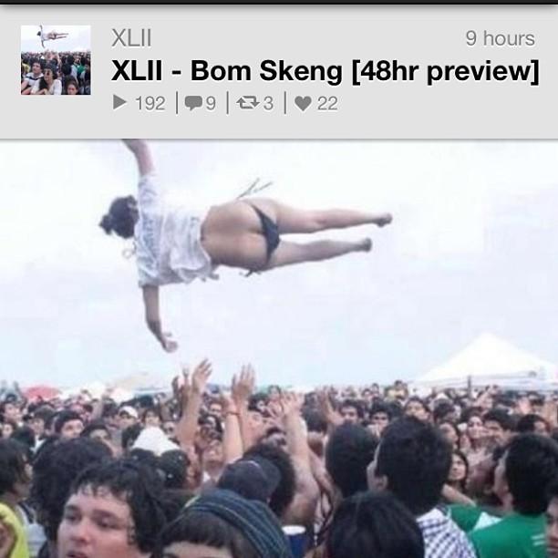 XLII - Bom Skeng | new track 48hr preview on soundcloud.  http://soundcloud.com/xlii/xlii-bom-skeng/      #music #soundcloud #tokyo #japan #electronic #ragga #reggaeton #robots #exotic #bass