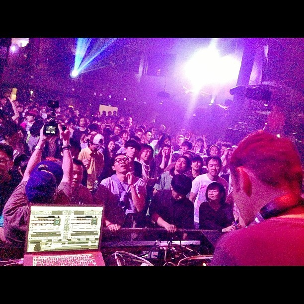 Darren Price smashing it at Womb. Legend. #underworld #tokyo #club #japan #womb