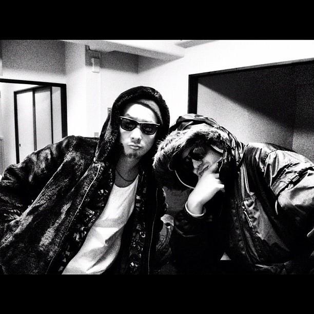 February, me & DJ Kentaro had a slight swag overkill! Haha #swag #overkill #G #wannabe #japan #style #lol #jokes (Taken with  Instagram )