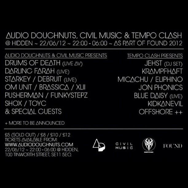 Tonight! Flyer Back! #flyer #party #london #hidden (Taken with  Instagram )