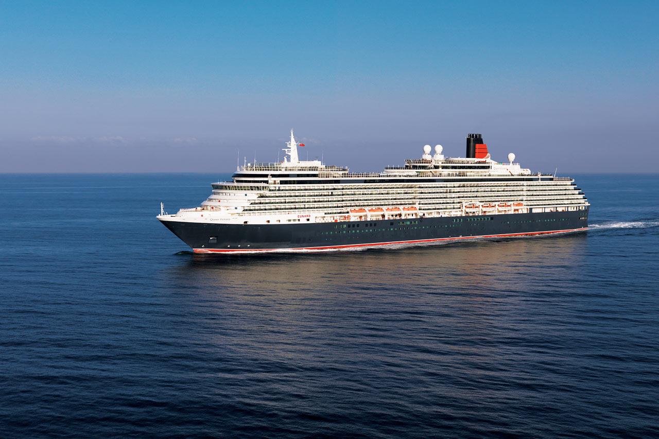 Queen Victoria, Cunard. Bild från  Globetrotter