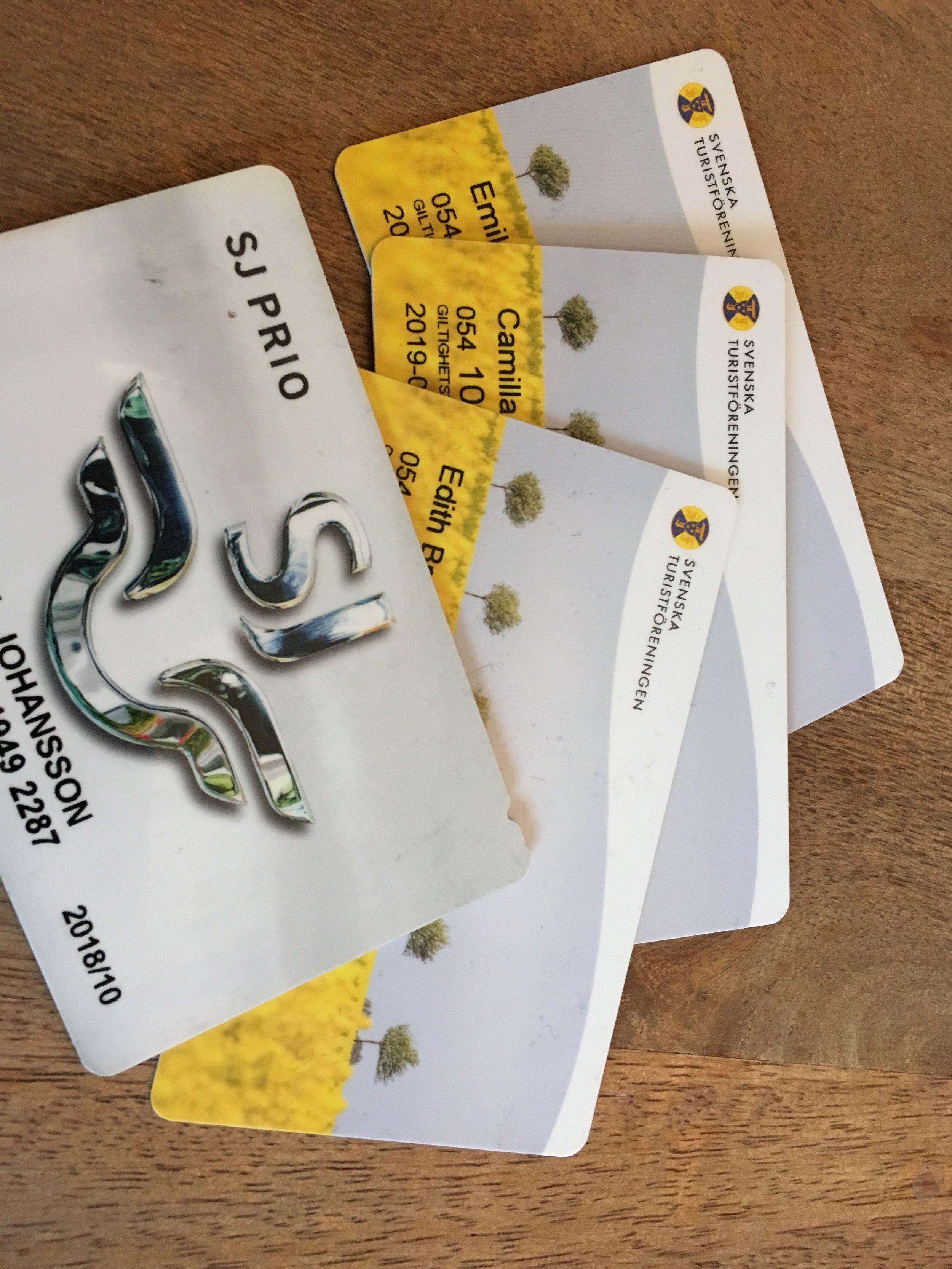 Som medlem i Svenska Turistföreningen (familjemedlemskap, 450:-) får man 10% rabatt på de flesta SJ-resor!